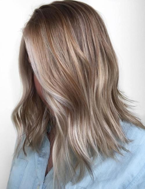 Medium Choppy Ash Blonde Hairstyle