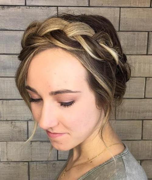 Halo Braid With Chunky Highlights