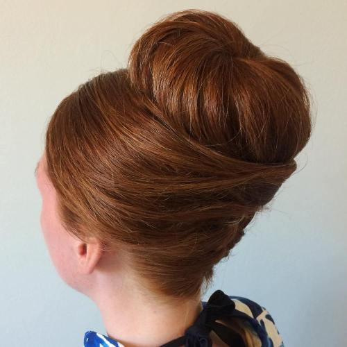 French Twist With A Sock Bun