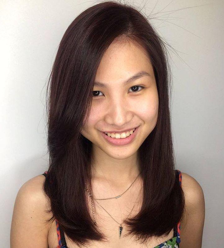 style hair Asian medium