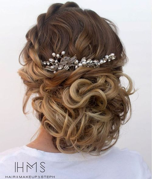 Loose Curly Updo For Ombre Hair