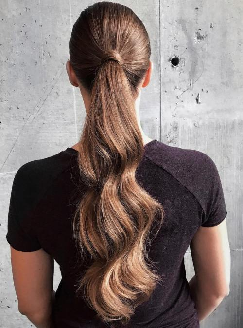 Long Wavy Ponytail