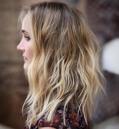 Messy Brown Blonde Balayage Hair