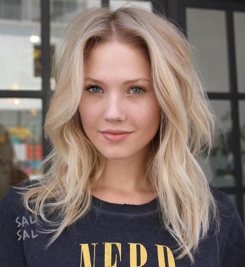 Messy Mid-Length Blonde Hair
