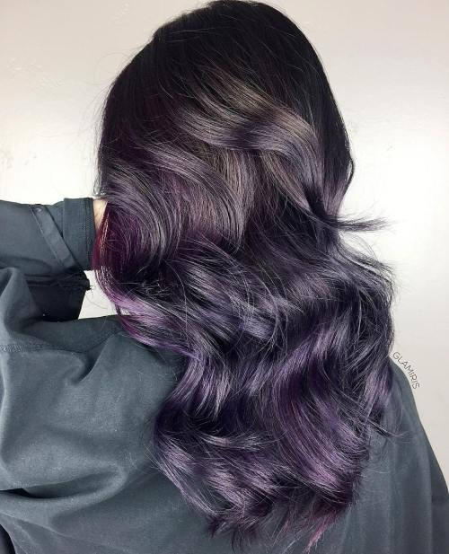 Cool Toned Eggplant Hair