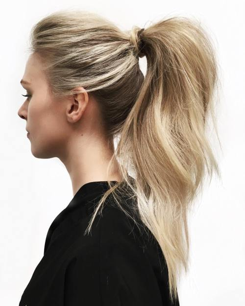 High Pony With Volume