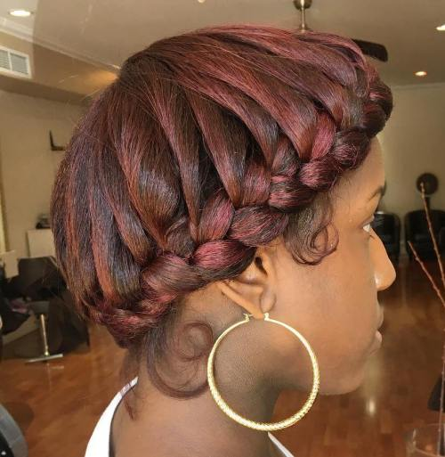 African American Halo Braid