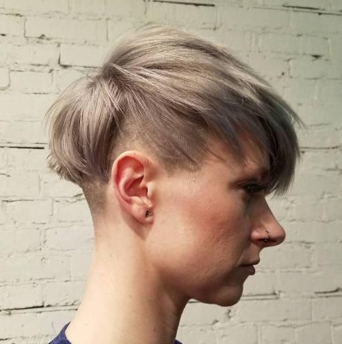 Ash Blonde Undercut Pixie