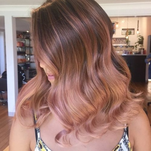 Rose Ombre On Brown Hair