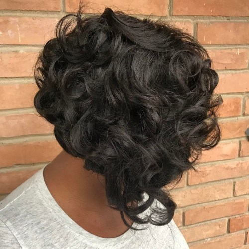 Short Stacked Curly Sew-In Bob