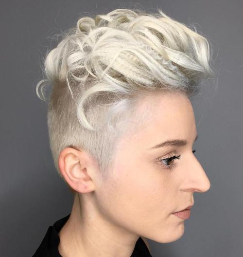 Platinum Blonde Pixie Undercut