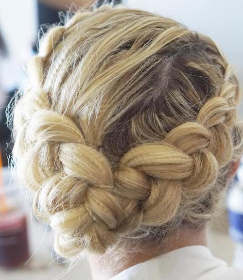 Messy Headband Dutch Braid Updo