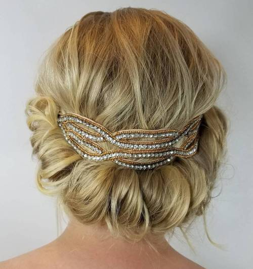 Low Rolled Updo