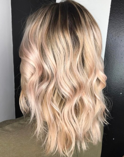 Platinum Blonde Meets Rose Gold