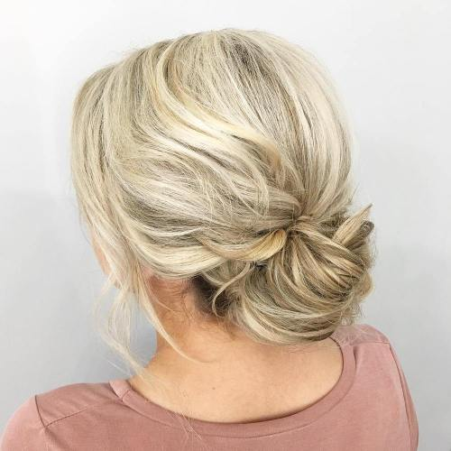 Blonde Low Bun