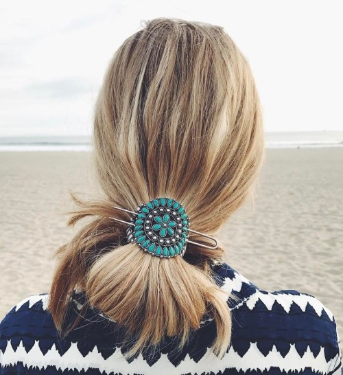 Low Updo With Hair Accessory