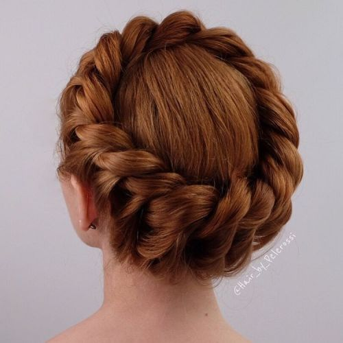 Formal Crown Braid Updo