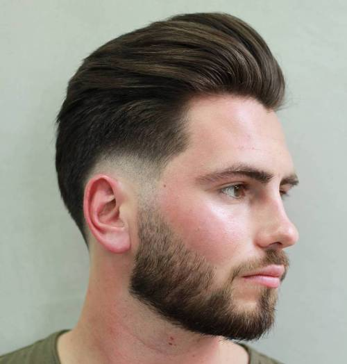 Burst Fade With Pompadour