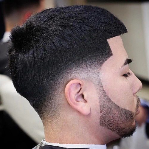 Caesar Cut With Drop Fade