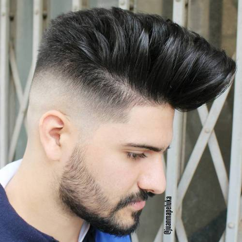 Pompadour With Faded Undercut
