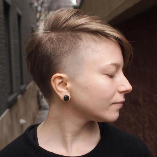 Side Undercut Pixie For Fine Hair