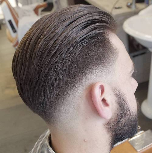 Long Top Hairstyle With Taper Fade
