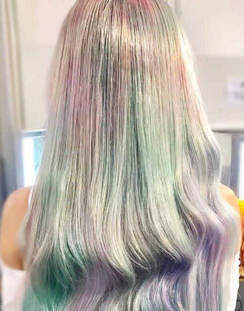 Long Hair With Subtle Pastel Colors