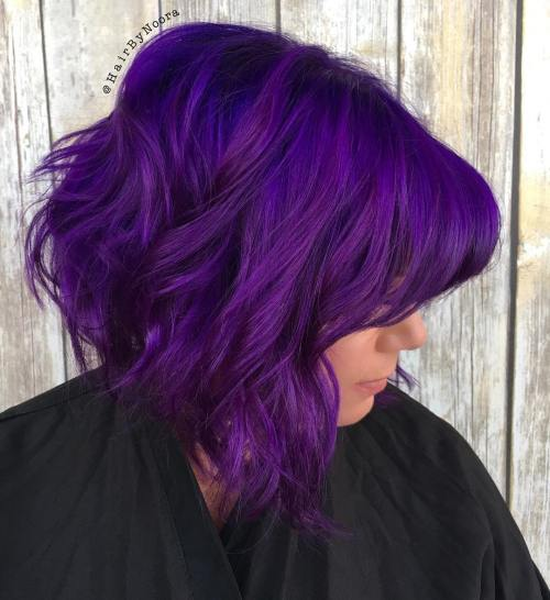 Electric Purple Stacked Bob