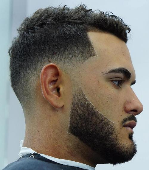 Low Fade Undercut For Curly Hair