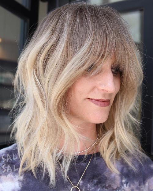 Tousled Ombre Lob