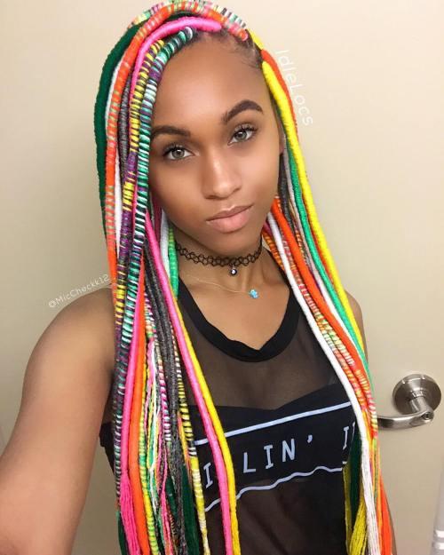 Rainbow Yarn Locs