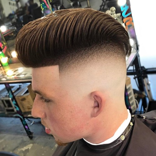 20 top mens fade haircuts that are trendy now pompadour with high fade urmus Image collections