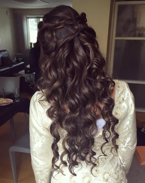 Brunette Mermaid Waves