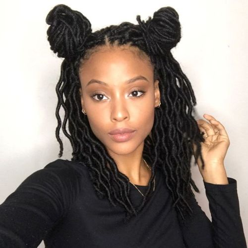 Pigtail Buns For Faux Locs