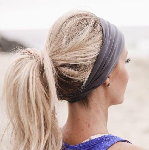 Messy Ponytail With Headband
