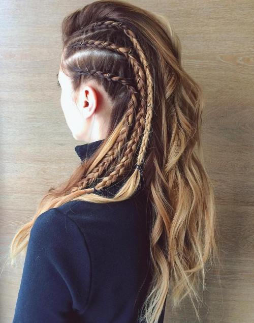 Braided Faux Hawk Style