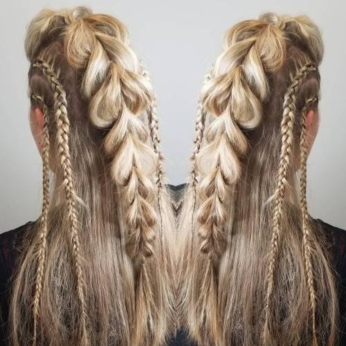 Braided Faux Hawk Hairstyle