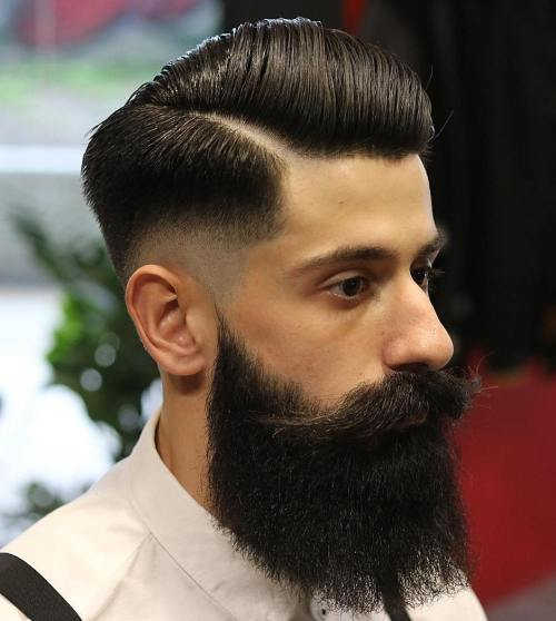 Combover With Temple Fade