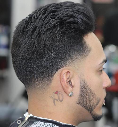Taper With Temple And Nape Fade