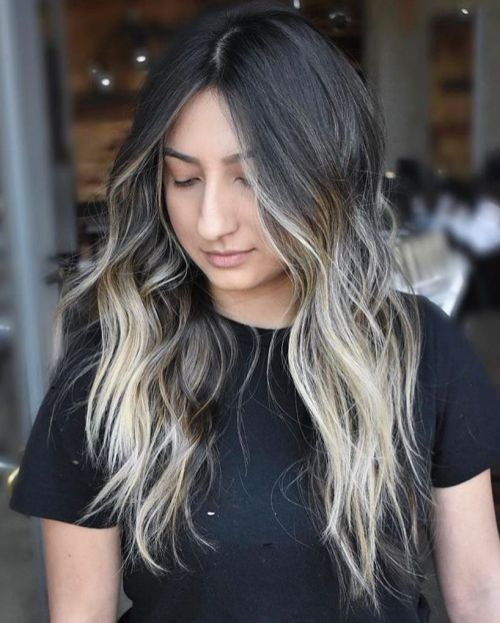 Centre Parted Ombre Hair