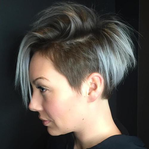 Pastel Blue Pixie With Undercut