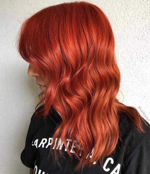 Vibrant Orange Lob