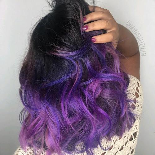 Lavendel und lila Balayage