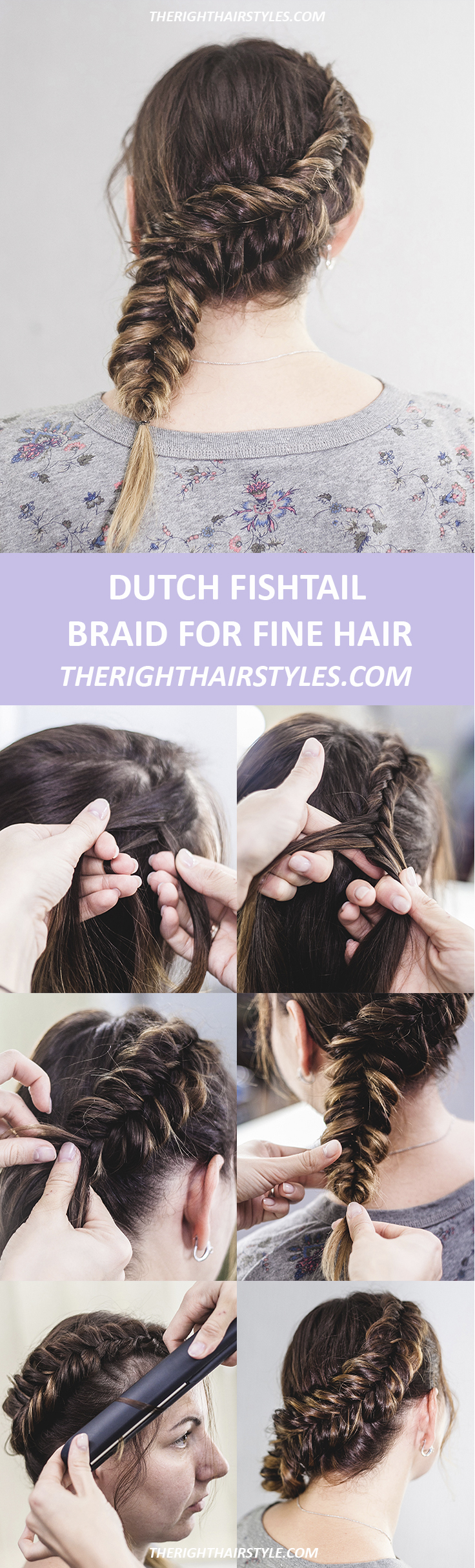 Dutch Fishtail Braid For Long Hair