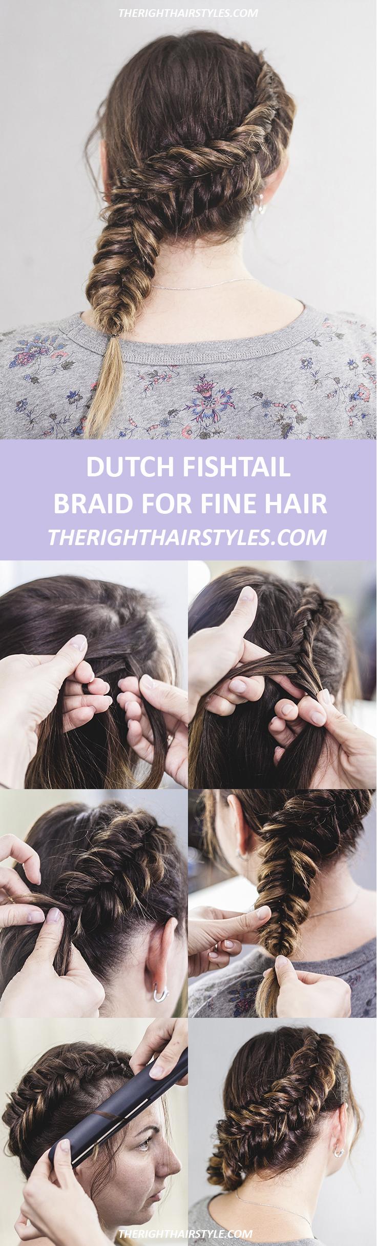 Dutch Fishtail Braid For Long Hair