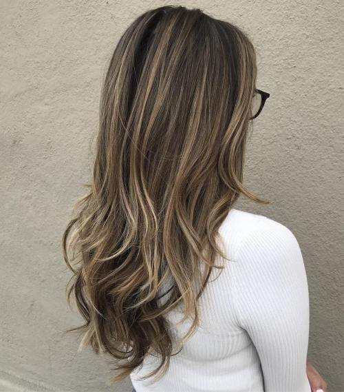 Long Layers With Dirty Blonde Balayage