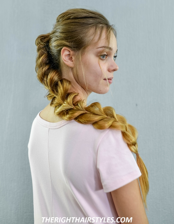 Side Swept Pull Through Braid