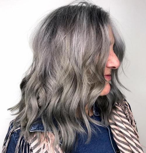 Silver Grey Beach Waves