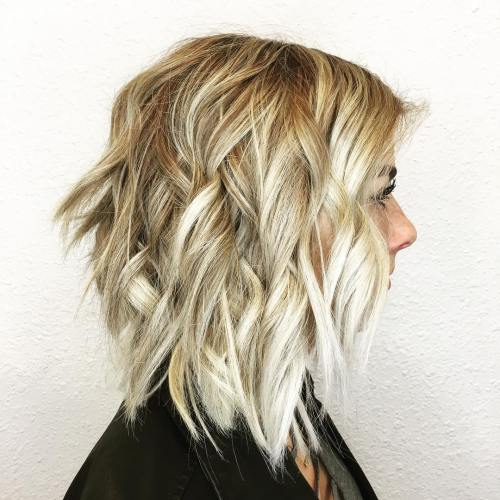 Blonde Balayage With Choppy Layers