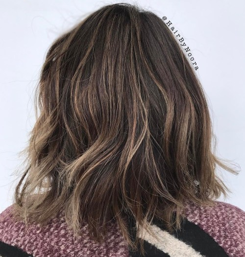 Brunette Shag With Tiny Blonde Accents